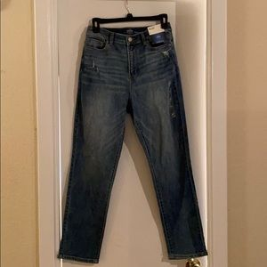 High-waist Capri pants